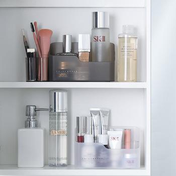 Przezroczysta skrzyneczka na akcesoria do makijażu biżuteria pudełko kosmetyczne organizator pędzel do makijażu pojemnik na pudełko do przechowywania szminki łazienka szafka organizator tanie i dobre opinie Z tworzywa sztucznego