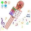 Профессиональный Bluetooth микрофон, беспроводной ручной микрофон для караоке, микрофон, музыкальный проигрыватель, запись пения, конденсаторн...