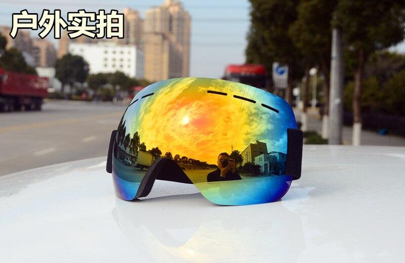 Adultos snowboard óculos grande máscara anti-nevoeiro eyewear