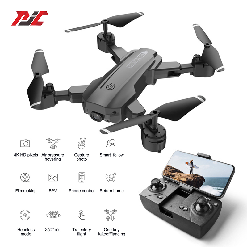 Permalink to RC Drone 4K Drones With Camera HD 4K or No Camera Long Battery Life Smart Follow Me FPV Dron Dual Cameras Folding Quadcopter Toy
