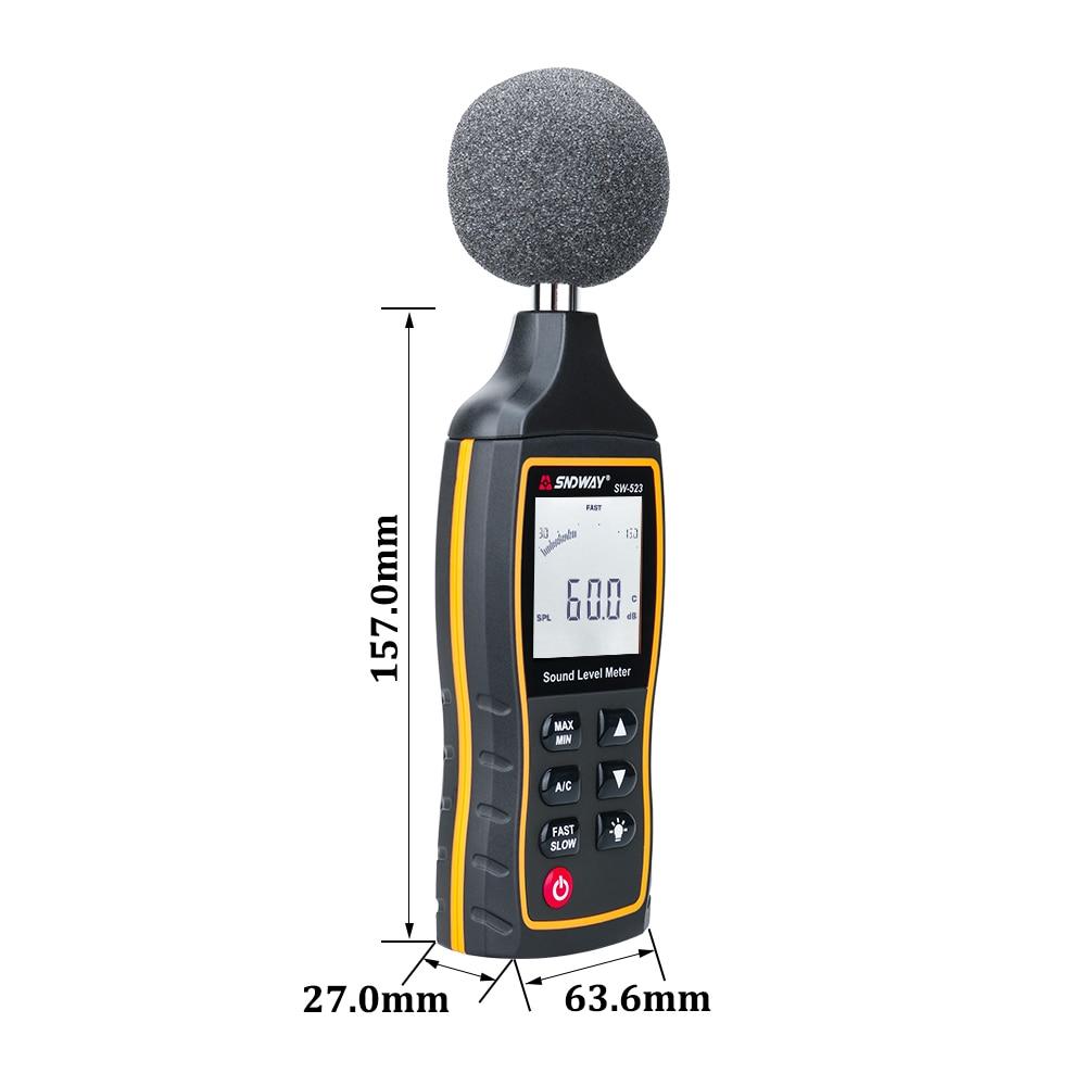 SNDWAY Medidor digital de nivel de sonido Decibelio Monitoreo - Instrumentos de medición - foto 3