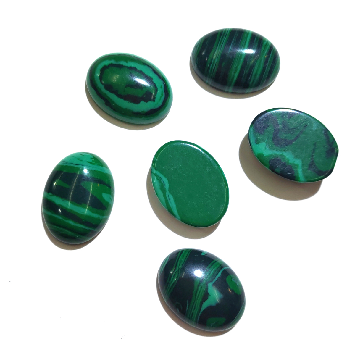 Wholesale 10Pcs Natural Stones Malachite Natural Cabochon No Hole Beads Pendants for Jewelry Making DIY Ring Necklace Accessorie in Jewelry Findings Components from Jewelry Accessories