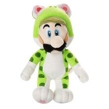 цена 2019 18cm Super Mario 3D Super Mario Bros Green Cat Luigi Plush Doll Toy For Kids онлайн в 2017 году