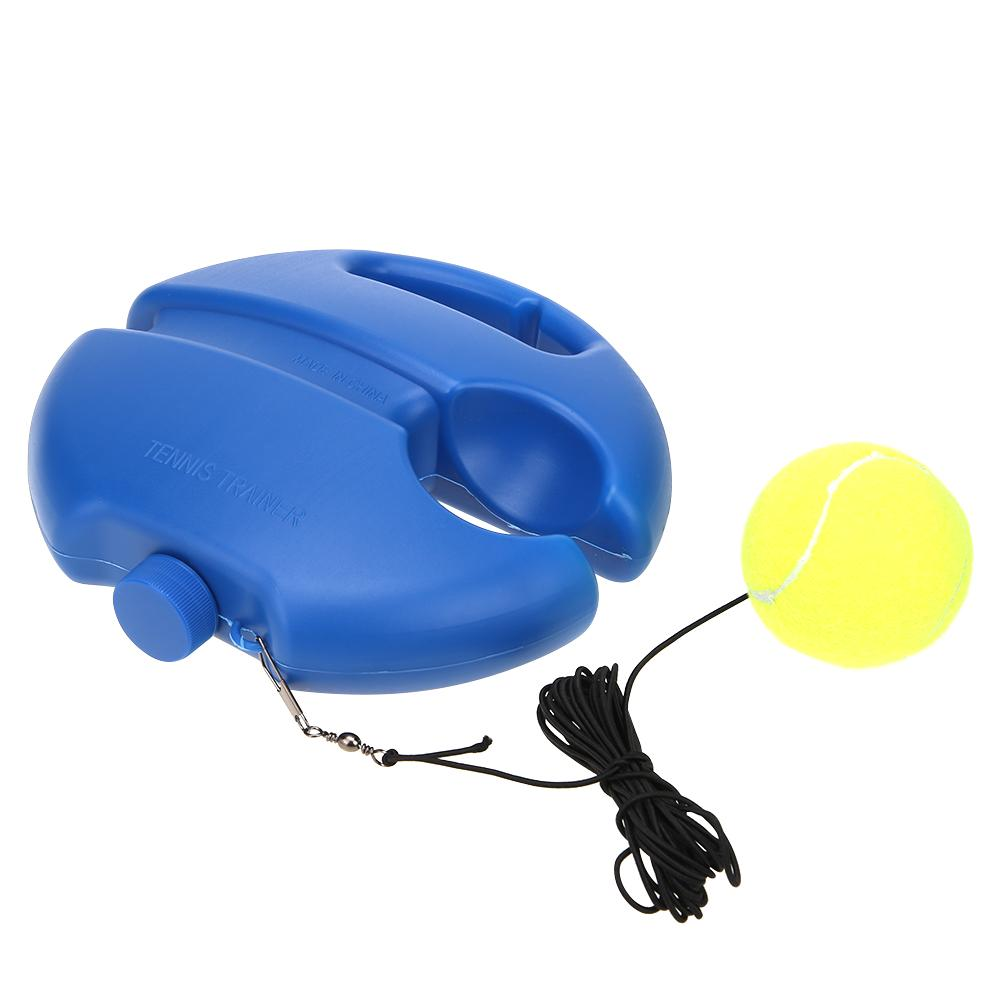 Self-study Tennis Trainer Rebound Ball With Baseboard Exercise Sports Sparring Device Tennis Training Equipment Blue