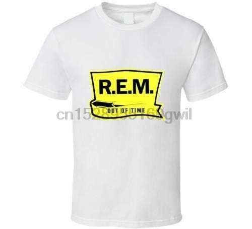 ใหม่ REM Out Of Time R.E.M โลโก้สีขาวสีดำเสื้อบุรุษ USA ขนาด S-XXXL Zm1