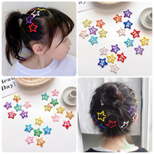Barrettes et épingles à cheveux pour enfants, lot de 2/10/20 pièces, jolies couleurs, en forme d'étoile, pour filles et femmes, accessoires de coiffure