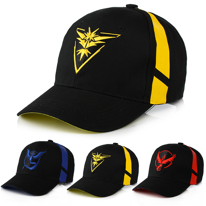 Game Pokemon Go Baseball Cap Cosplay Costume Prop Embroidered Hat Outdoor Sunhat Accessories Unisex Adult