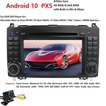 hizpo PX5 4G Car Multimedia player Android 10 2 Din GPS Autoradio For Mercedes/Benz/W169 W245 W639 W906 Sprinter B160 B170 B200 image