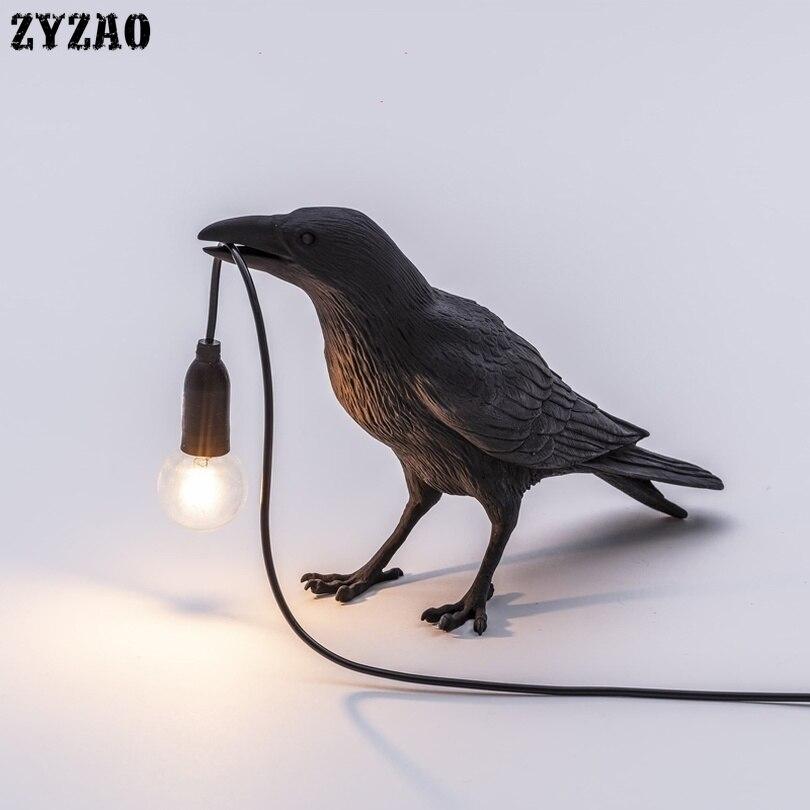 Nordic Designer Vogel Lamp Tafel Lampen voor Woonkamer Cartoon Geschenken Kinderen Studeerkamer Home Decor Art LED Tafel Licht armaturen - 2