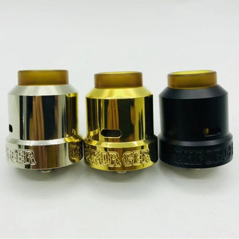 Enforcer cap RDA Rebuildable Atomizer tank 25mm for cigarette electronic vape mod 510 mech mod Atomizer Vape Tank vs goon rda e xy goon v1 5 rda atomizer 528 rda electronic cigarette atomizer tank rebuildable dripping atomizer adjustable