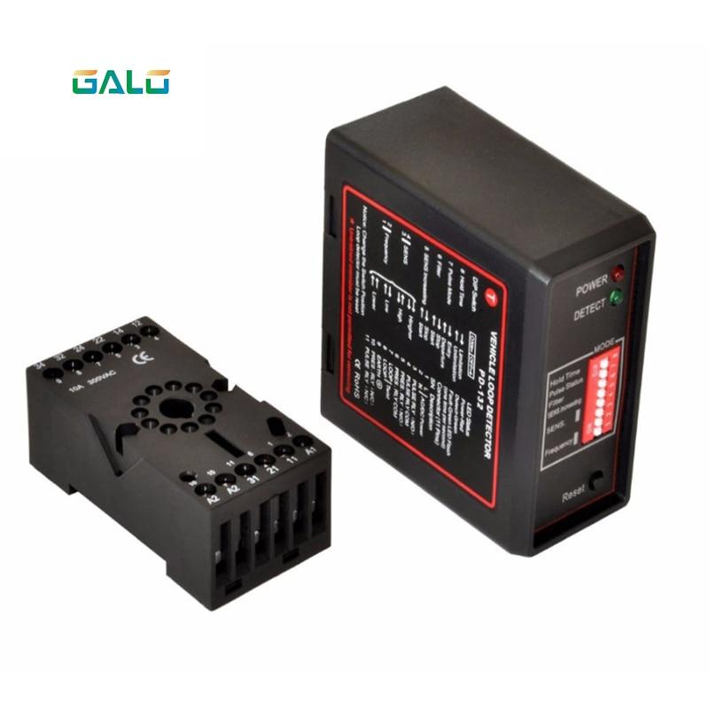 Traffic Inductive Loop Vehicle Detector Signal Control Ground Sensors Can  AC220 AC110V Loop Detector Vehicle Traffic Detector
