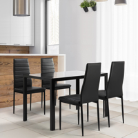 Dining Table and Chair Set Modern Simple Dining Room Dining Table + 4 Chairs Home Furniture