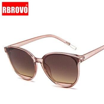 RBROVO nueva llegada 2019 gafas De Sol De moda mujer Vintage Metal gafas espejo clásico Vintage Oculos De Sol femenino UV400