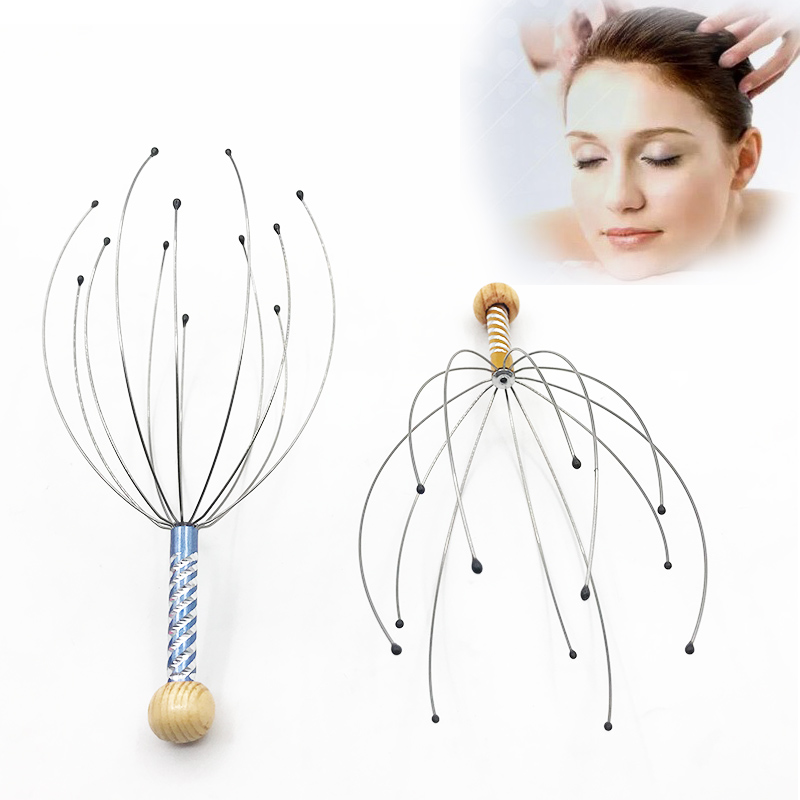roller Anti-stress Tens Pain Relief Octopus Head Scalp Neck Stress Release Relax Massager Claw Face Skin Care Lift Tools