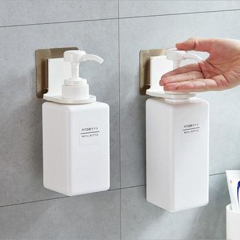 Home Bathroom Storage Shower Gel Rack Suction Wall Shampoo Hand Sanitizer Slider Traceless Hook Wholesale Bottle hook