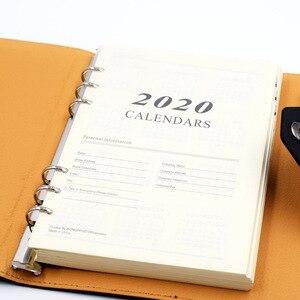 Image 4 - Harphia 2020 ve 2021 programı iç kağıt 6 delik ciltli defter dolum için 180 sayfa gündem planlayıcısı
