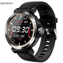 SENBONO S18 Full Touch Screen Smart Watch IP68 waterproof Men Sports Clock Fitness tracker Heart Rate Monitor smartwatch