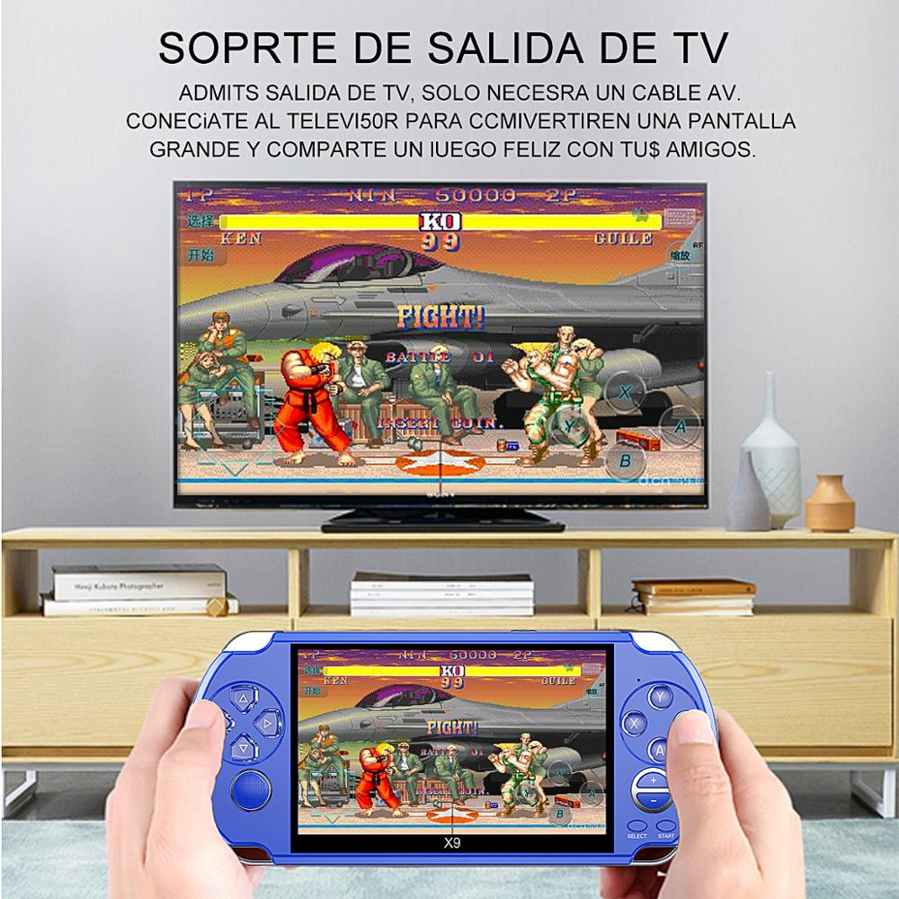 Image 4 - Video Retro Game Console X9 PSVita Handheld Game Player for PSP 
