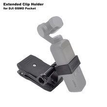 DJI OSMO Pocket Bracket with Backpack Clip Hat Clip Clamp Mount for Handheld Gimbal Camera DJI OSMO Pocket Expansion Accessories(China)