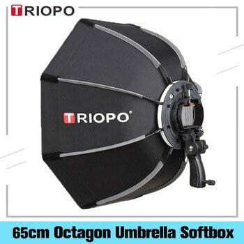 TRIOPO 65cm Umbrella Softbox Portable Outdoor Octagon For Godox Yongnuo Flash Speedlite Soft Box Photography Studio Accessories