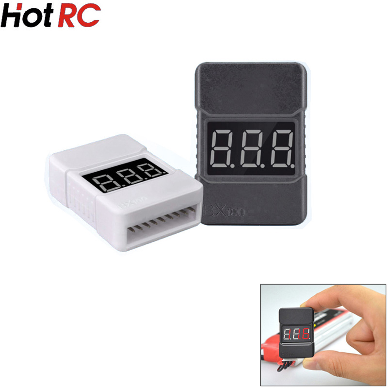 HotRc BX100 1-8S Lipo Battery Voltage Tester/ Low Voltage Buzzer Alarm/ Battery Voltage Checker With Dual Speakers