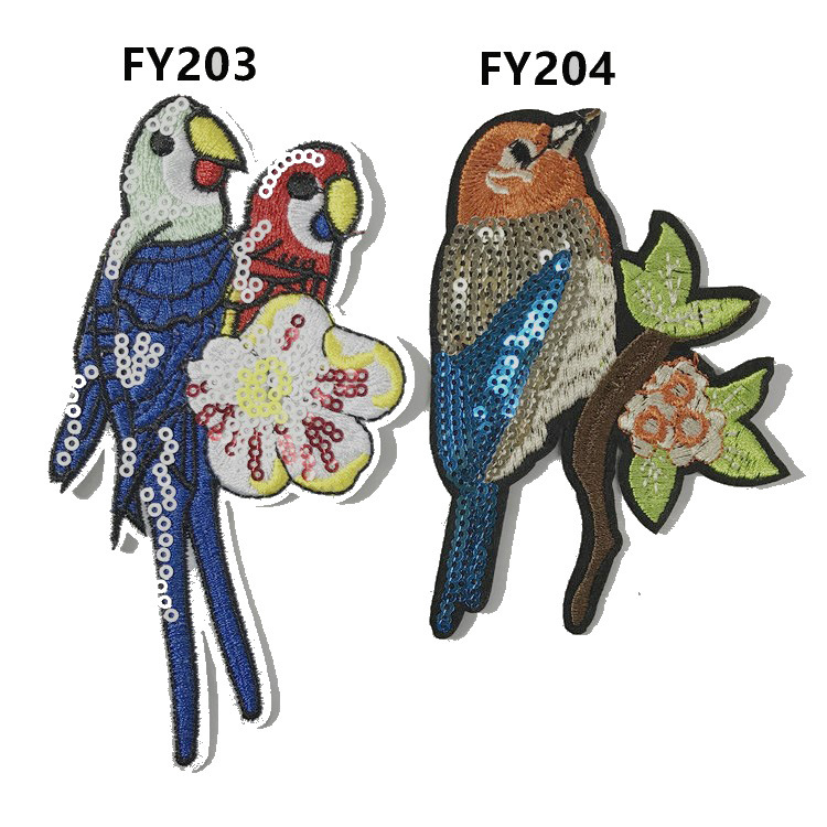 Parrot Bead Sequins Embroidered Cloth Paste