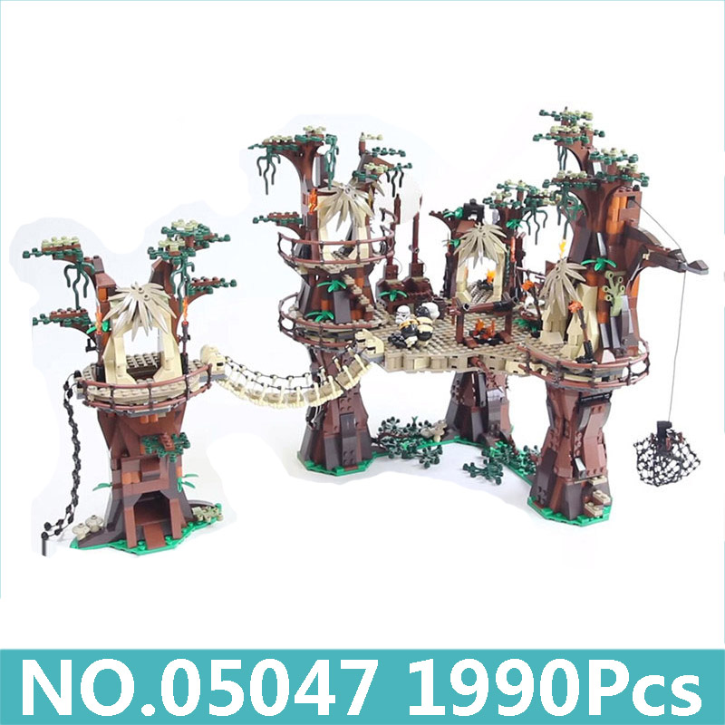 05047 1990pcs Ewok Village Star Series Wars Building Blocks with star figure toys Compatible 10236 blocks