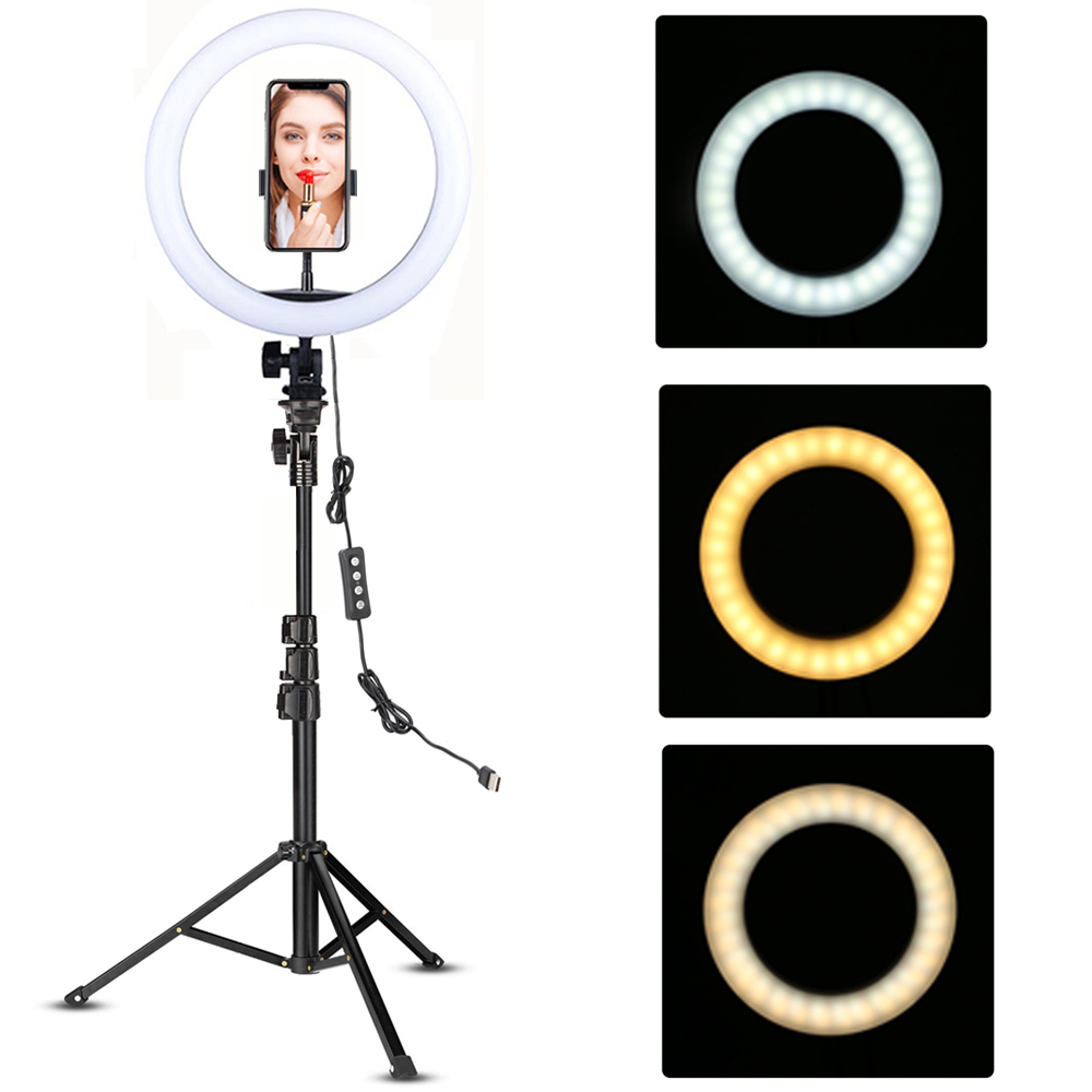 LED Ring Licht 10-zoll mit Stativ Selfie Ringlight Video Photpgraphy Lampe für Youtube Make-Up Video Live Beleuchtung schießen