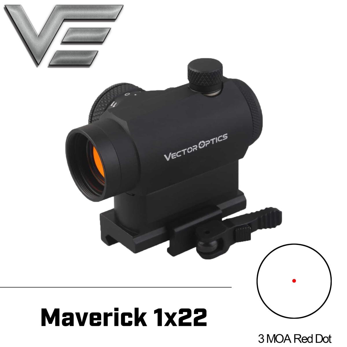 Vecteur optique Maverick AR15 M4 1x22 tactique point rouge portée vue avec 20mm libération rapide haut Riser Picatinny Base de montage