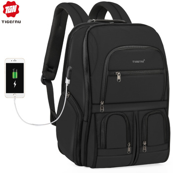 2019 New RFID Upgraded Anti theft Zippers Waterproof Laptop Men Backpack With USB Charging Large Capacity Travel Bag Male Female