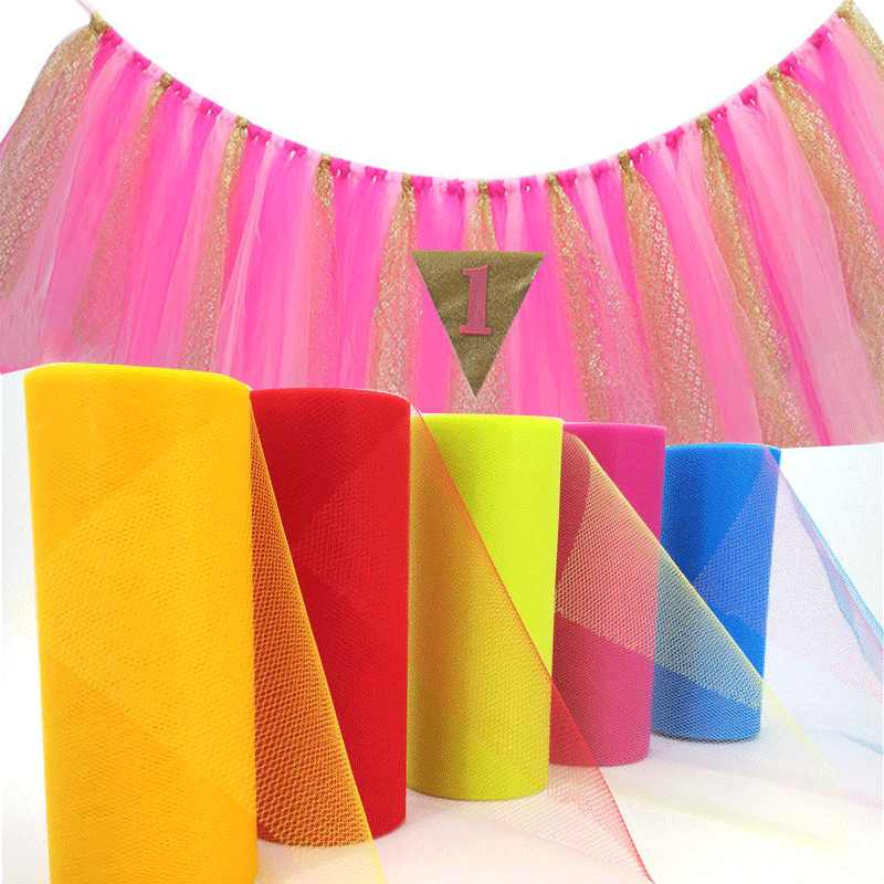25 Yards 15cm Tulle Roll of Tutu Fabric Wedding Decoration DIY Organza of girl Baby Shower Skirt Accessories 7ZSH759