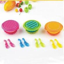 4 пар/компл. высокое качество PP Ложка для грудничков, посуда для кормления детей набор ложка и вилка Детские Обучающие ложки