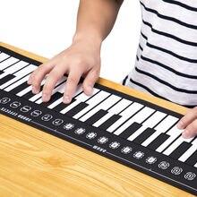 Портативное гибкое Силиконовое электронное рулонное пианино