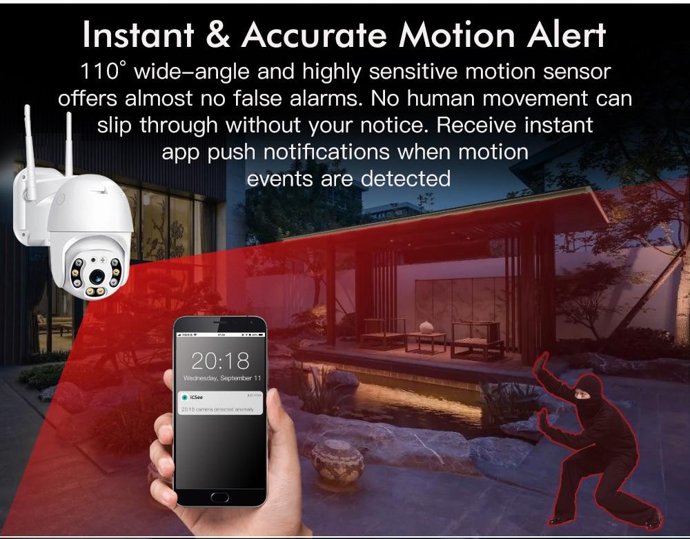 H5623fa356e7d403cb2c3f26daa99dbb7C SDETER 1080P PTZ Security WIFI Camera Outdoor Speed Dome Wireless IP Camera CCTV Pan Tilt 4X Zoom IR Network Surveillance 720P