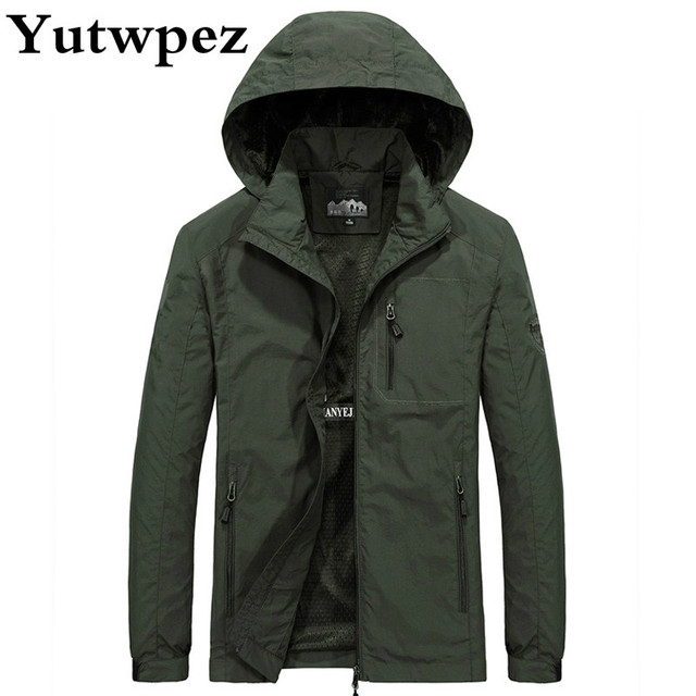 Jacket Men Plus Size M 6XL Spring Autumn Streewear Mens Hooded Casual military Windbreaker Waterproof Clothes Men s Coat Male