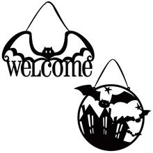 Halloween Non-woven Door Wall Hanging Welcome Bat Ornaments Novelty and Beauty Fashionable Lovely Festival Supplies