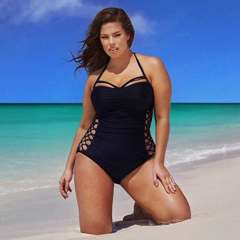 Baru Ukuran Besar Plus Lemak Multi Tali One-Piece Swimsuit Wanita Bikini Bikini Plus Ukuran Siam Baru Wanita bikini Set Plus Ukuran
