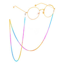 Colorful Stainless Steel Women Glasses Chains Non-slip Sunglasses lanyard Neck Strap Summer