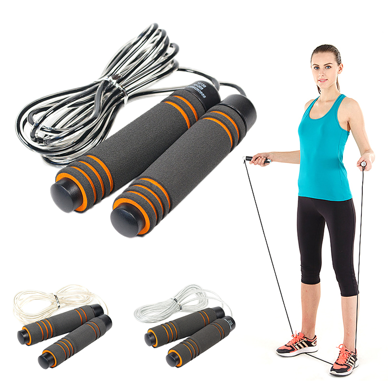 Adjustable Bearing Jump Rope Tangle-proof Durable Tendon Tangle-Free Gym Fitness Training Skip Rope