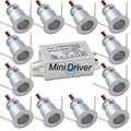 IP65 1W 12V 15mm impermeable Mini bombilla LED downlight con adaptador de controlador IP67 AC100V-220V para hotel doméstico pantalla de luz de techo CE