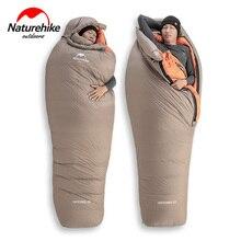 2020 Новый Naturehike  21 °C гусиный пух спальный мешок 750FP Профессиональный Открытый Кемпинг Туризм теплый водонепроницаемый спальный мешок для мам