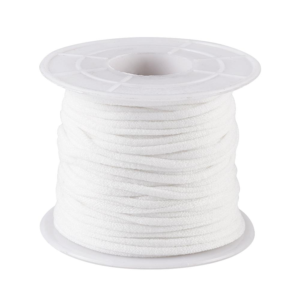 1 Roll  Flat Nylon Elastic Band For Face Mask Ear Loop Mask Elastic Cord 2mm 3mm DIY Mask Making Material With Spool, White