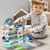 2021 ילדים חדשים צעצועי מכוניות לילדים מונטסורי 2 כדי 4 שנים Juguetes משחקים חינוכיים לילדים מוסך עבור צעצוע רכב דגם