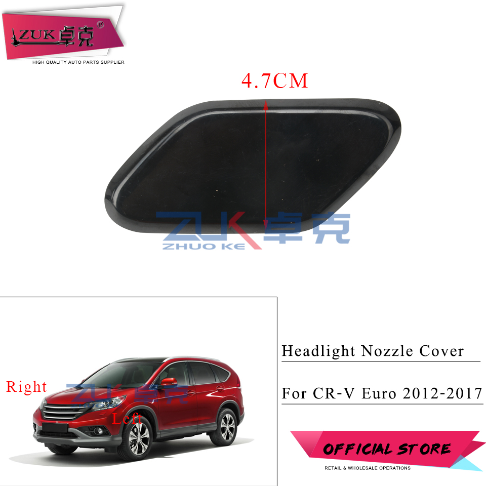 For HONDA CR-V CRV Euro 2012 2013 2014 2015 2016 2017 Headlight Washer Nozzle Cover Headlamp Cleaning Water Spray Jet Cap Lid image
