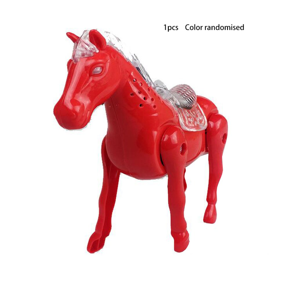 Electric Horse Simulation Horse Flash Toy Portable Lantern Electric Toy Horse Electric Horse Circle Music Glow