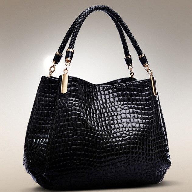 Women's Bags Authentic 2019 New European And American Crocodile Pattern Leather Women's Handbags Shoulder Bag Ladies Bags