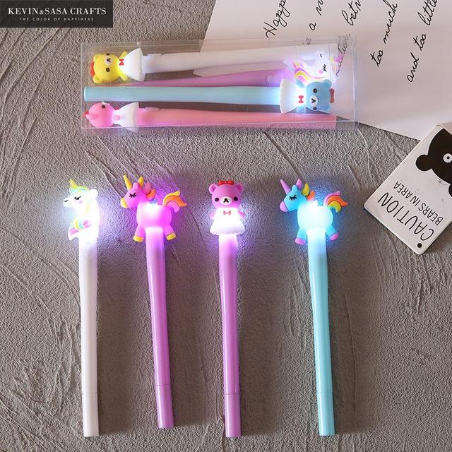 4Pcs/Set Gel Pen Unicorn Pen Stationery Kawaii School Supplies Gel Ink Pen School Stationery Office Suppliers Pen Kids Gifts 2