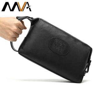 MVA Genuine Leather Men Make Up Bag Trav