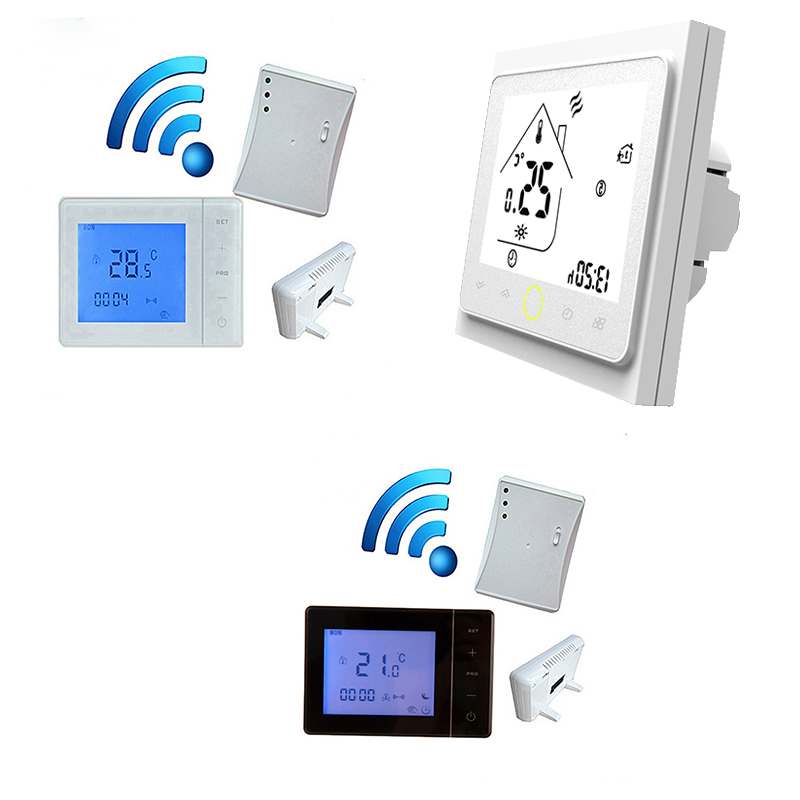 Thermostat Wireless Thermostat RF Control 5A Wall-Hung Boiler Heating Thermostat Digital LCD 3A Modbus Temperature Controller