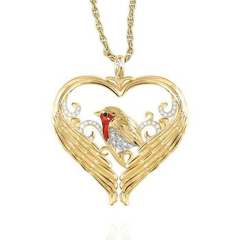 Bird Pendant Yellow Gold Color Charm Necklace for Women Messenger of Love Fashion Accessories Lover Gift Anniversary Jewelry